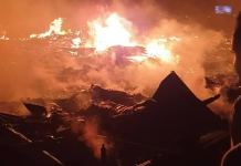 Breaking: Fire Razes Shanties In Ebute Metta
