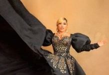 Toyin Lawani Set To Marry, Dressed In Black Outfit In Pre-Wedding Photos