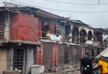 LASEMA Put Out Fire At Ladipo Market