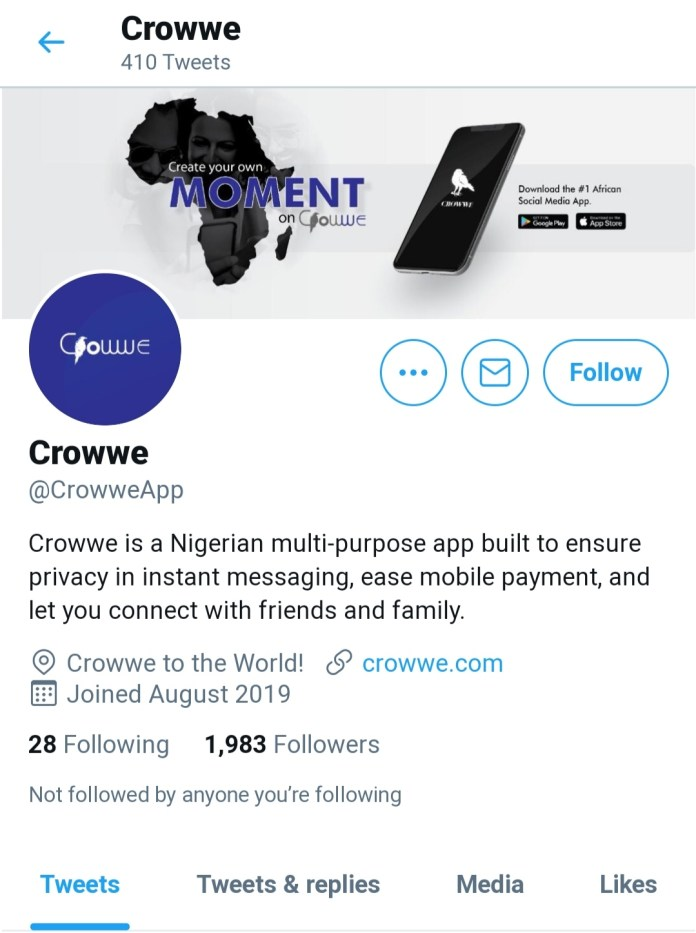 Breaking: Twitter Scores As Google Boots Garba's 'Crowwe App' Out Of Playstore