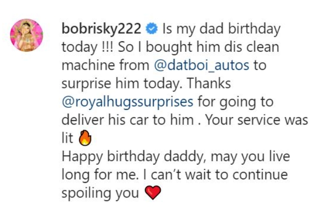 Crossdresser Bobrisky Gifts His Father New Lexus SUV As Birthday Gift