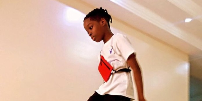 Watch Video Of How Wizkid's Son Flaunts N1M Gift