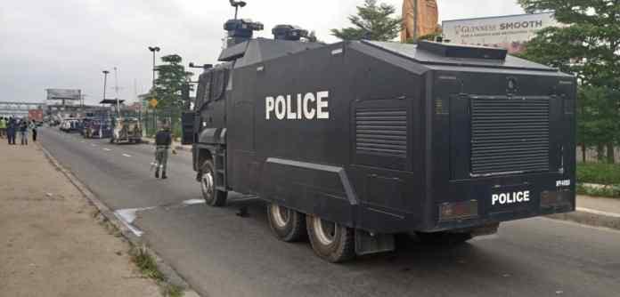 Lagos Rally: Police, DSS, military cordone Ojota