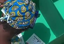 Video: Woman Spotted Rigging Local Govt Elections In Lagos