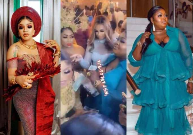 See Video Of Eniola Badmus As She Fights Dirty At Bobrisky's 30th Birthday