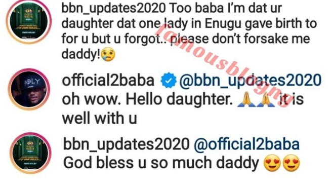 Checkout Funny Reactions As 2Face Idibia Respond To Lady Who Claims He's Her Father