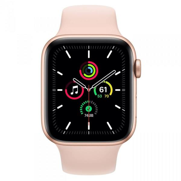 Apple Watch SE 44mm GPS Gold Aluminum Case with Pink Sand Sport Band