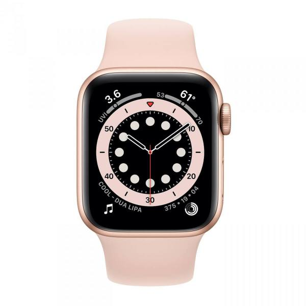 Apple Watch Series 6 40mm GPS Gold Aluminum Case with Pink Sand Sport Band