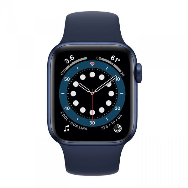 Apple Watch Series 6 40mm GPS Blue Aluminium Case with Deep Navy Sport Band