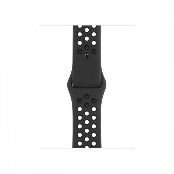 Часы Apple Watch Series 6 Nike, Размер корпуса 40 мм, GPS, Корпус из алюминия цвета «серый космос», спортивный ремешок Nike цвета «антрацитовый/чёрный»