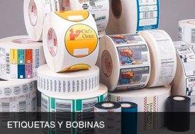 Etiquetas en bobina