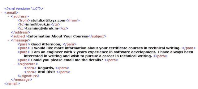 Sample XML File - Email