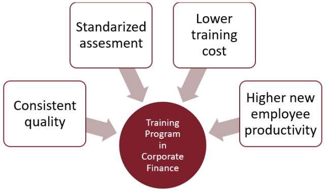 Comprehensive training program in corporate finance for a leading investment bank