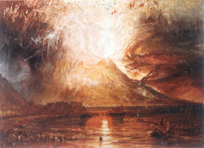 Turner, Eruzione del Vesuvio, 1817