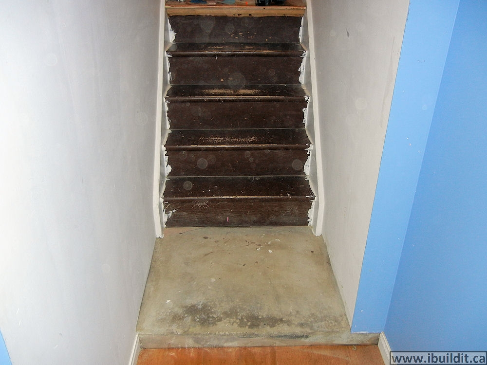 How To Cover Basement Stairs Ibuildit Ca | Cost To Replace Basement Stairs | Stair Case | Stair Tread | Carpet | Hardwood | Unfinished Basement
