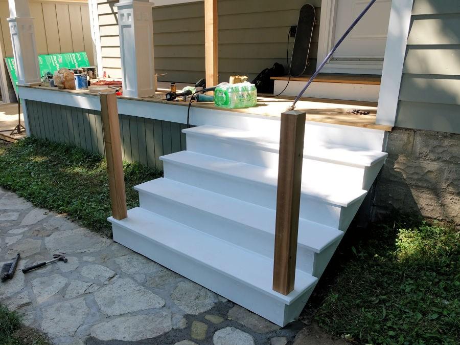 How To Make Porch Railings Ibuildit Ca   Outdoor Railings For Concrete Steps   Front Porch   Concrete Slab   Railing Ideas   Steel Handrail   Brick