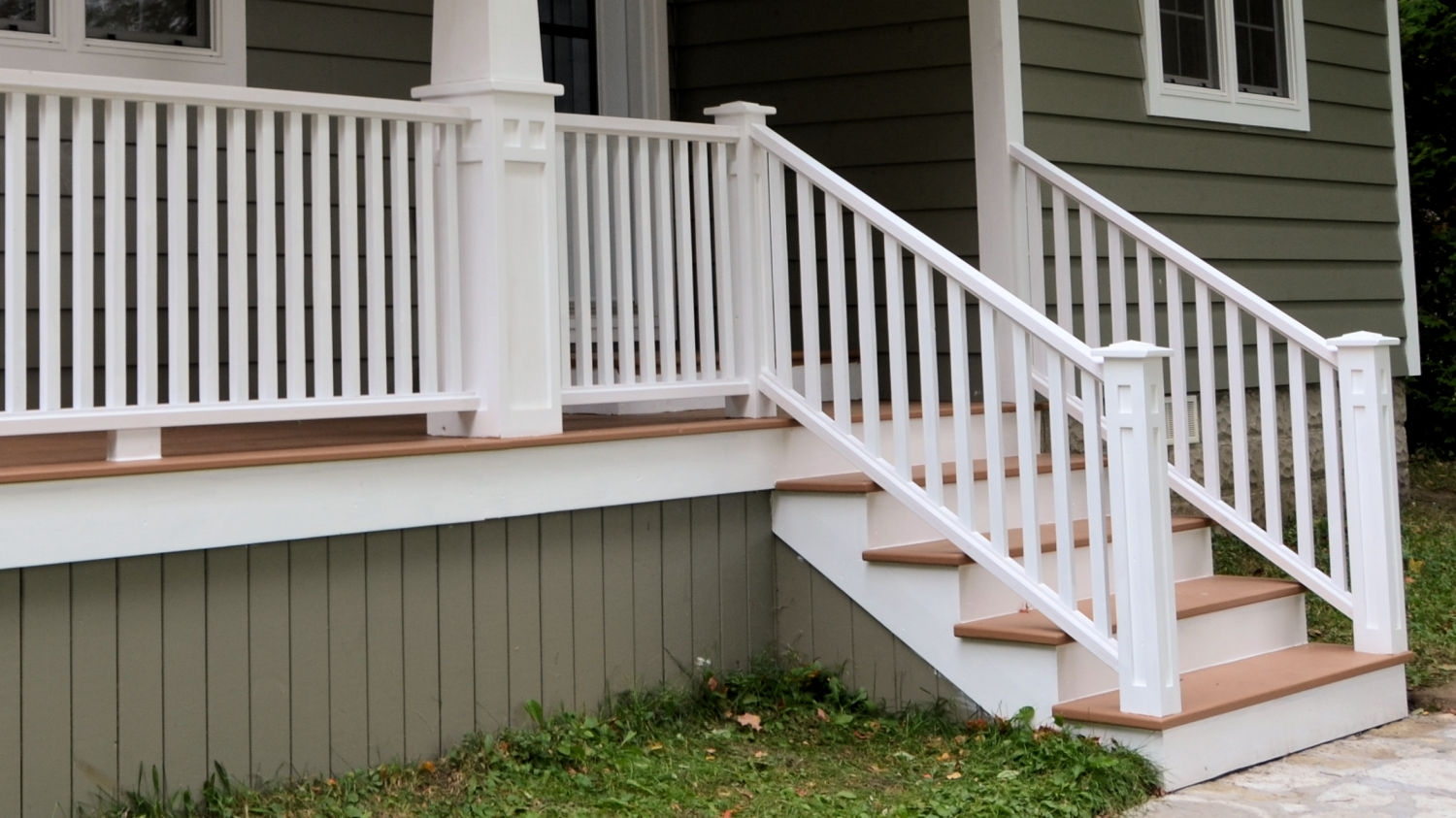 How To Make Porch Railings Ibuildit Ca   Exterior Handrails Near Me   Wire   Iron   Screen   Diy   Post