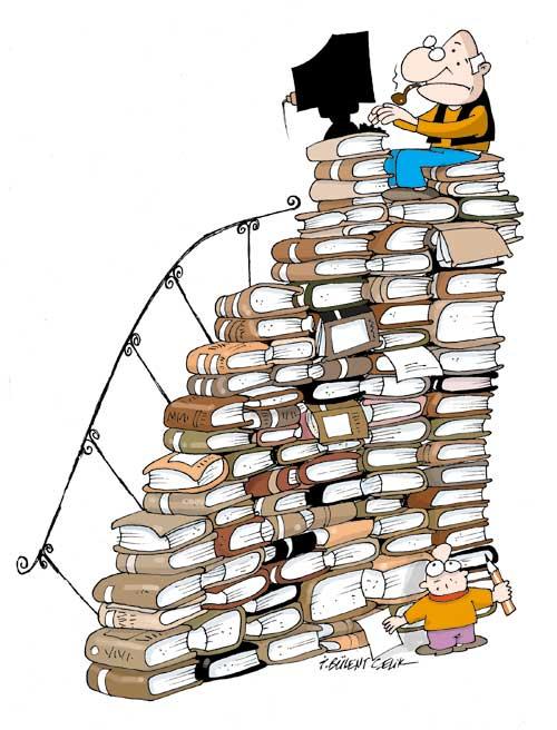 kitaplar karikatür ile ilgili görsel sonucu