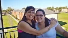 Madre e hija en el Seminario...
