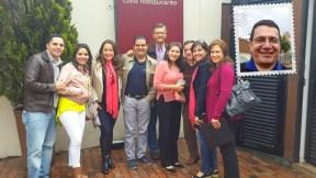 La delegación salvadoreña, los Mejía y los Garrido!