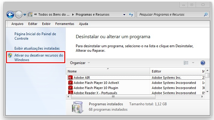 Desinstalando Windows Search