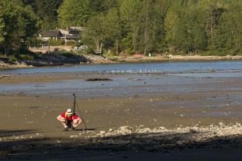 Adam shoots beach flies.