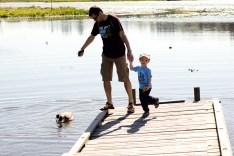 Viorel tries to show Tavi a goose