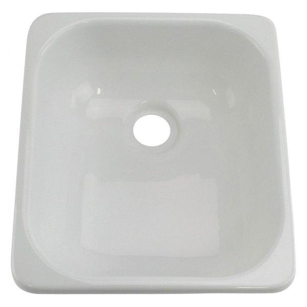better bath 209630 plastic white drop in rectangular single bowl kitchen sink 15 l x 13 w
