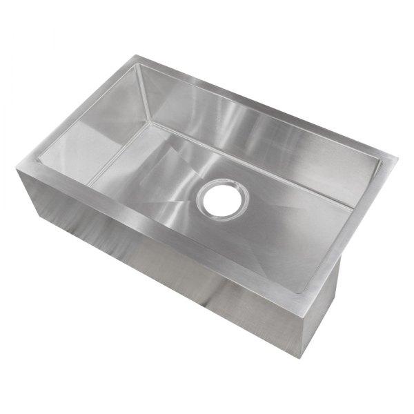 better bath 389910 stainless steel undermount rectangular single bowl kitchen sink 27 l x 16 w