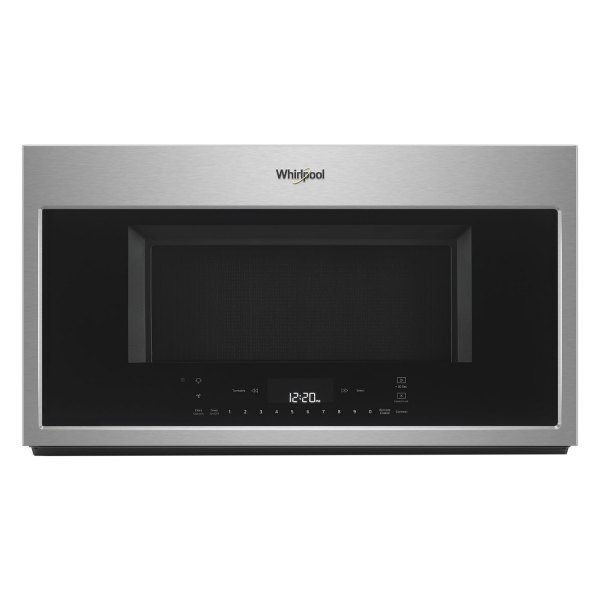 whirlpool wmh78019hz 1 9 cu ft 1100w gray countertop built in microwave with voice control scan to cook technology