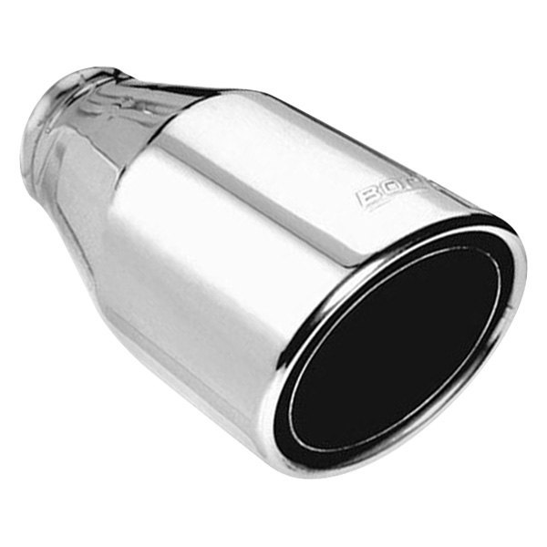 borla 20247 phantom stainless steel round rolled edge angle cut weld on polished exhaust tip 2 5 inlet 4 5 outlet 7 75 length