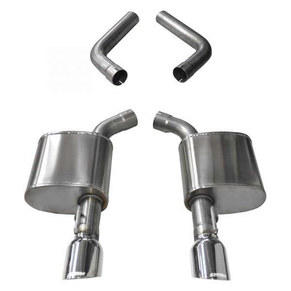 corsa sport 304 ss axle back exhaust system with split rear exit