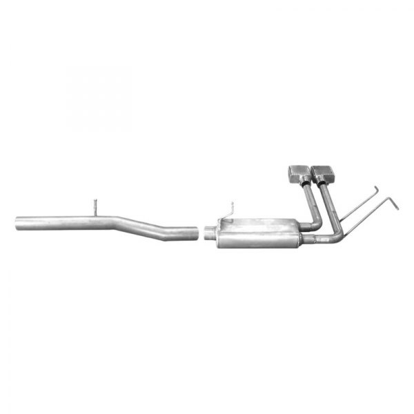 gibson super truck cat back exhaust system with dual side exit
