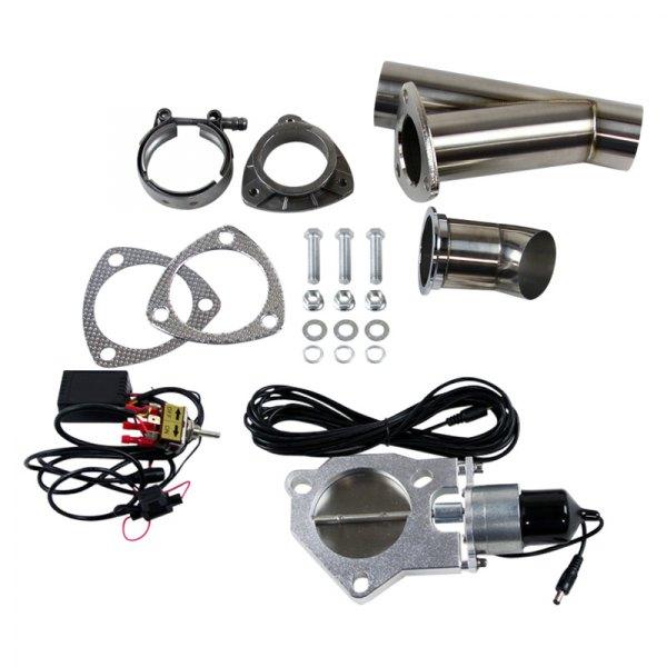 granatelli motor sports 307525 stainless steel single electronic exhaust cutout valve kit 2 5 diameter
