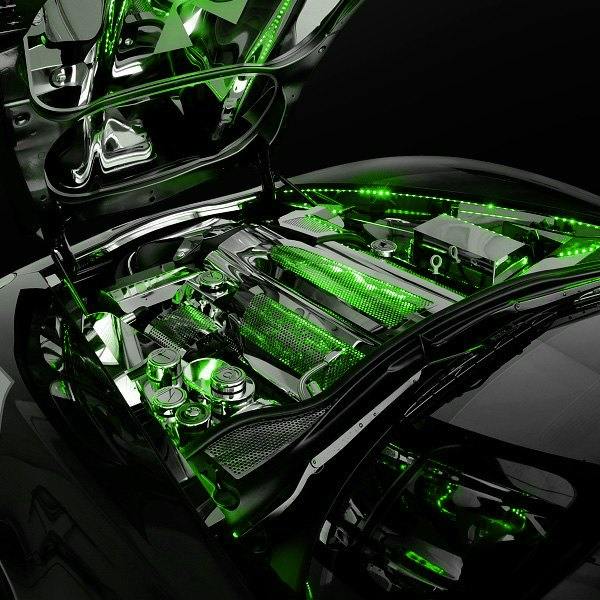 oracle lighting 4226 004 60 engine bay lighting green led strip kit