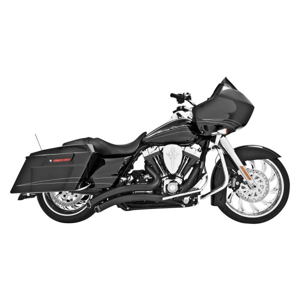 freedom performance hd00703 sharp curve radius 2 2 black exhaust system
