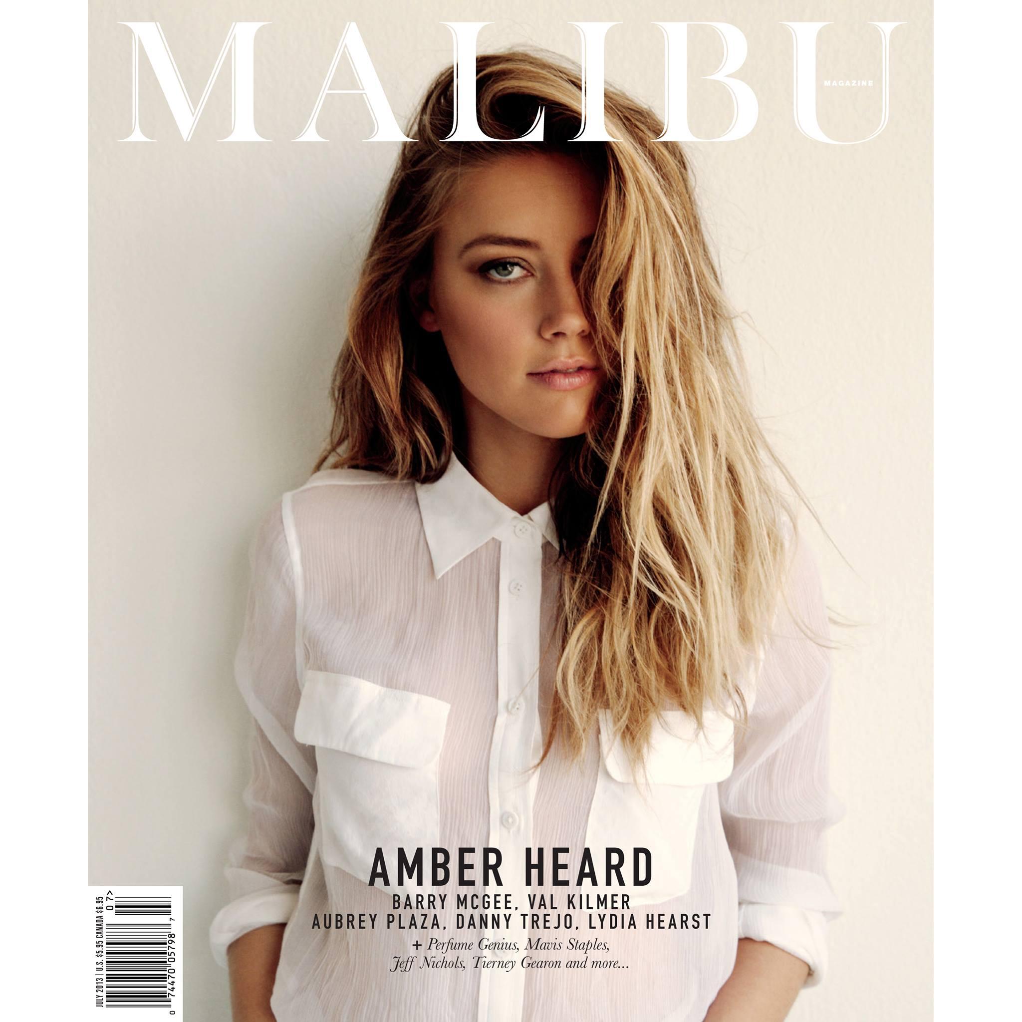 Amber Heard Looks Stunning In Malibu Magazine