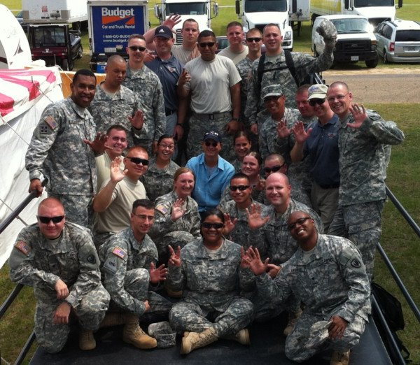 Gary Sinise with the Silver Wings Band