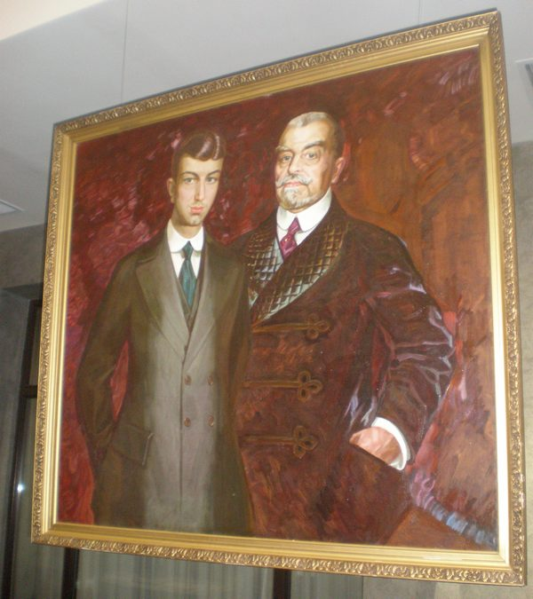 Филипп Малявин. Портрет Павла Ивановича Харитоненко с сыном. 1911