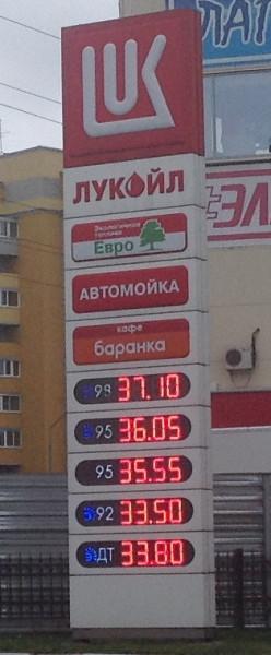 Бензин 9 октября 2014 года