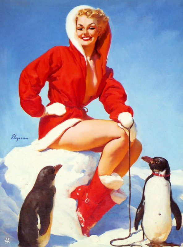 gil-elvgren-pin-up-with-penguins