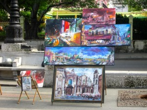 Paseo Prado with the miscellaneous artists