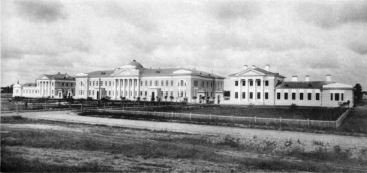 Больницы для рабочих. Мануфактура Ивана Коновалова. Общий вид больницы