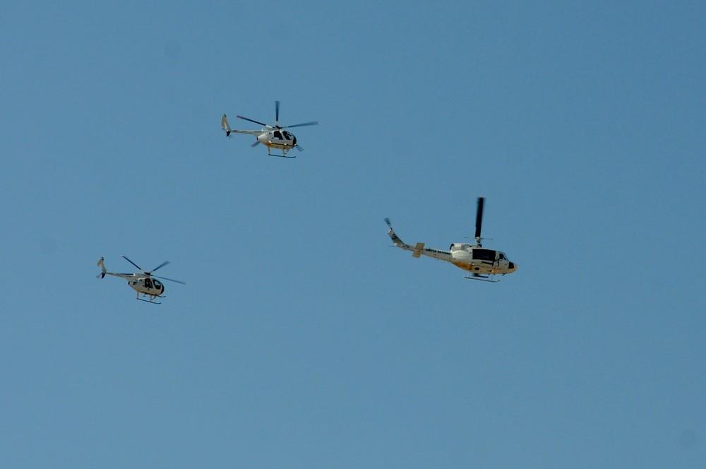 Вертолеты ООН над аэропортом Никосия