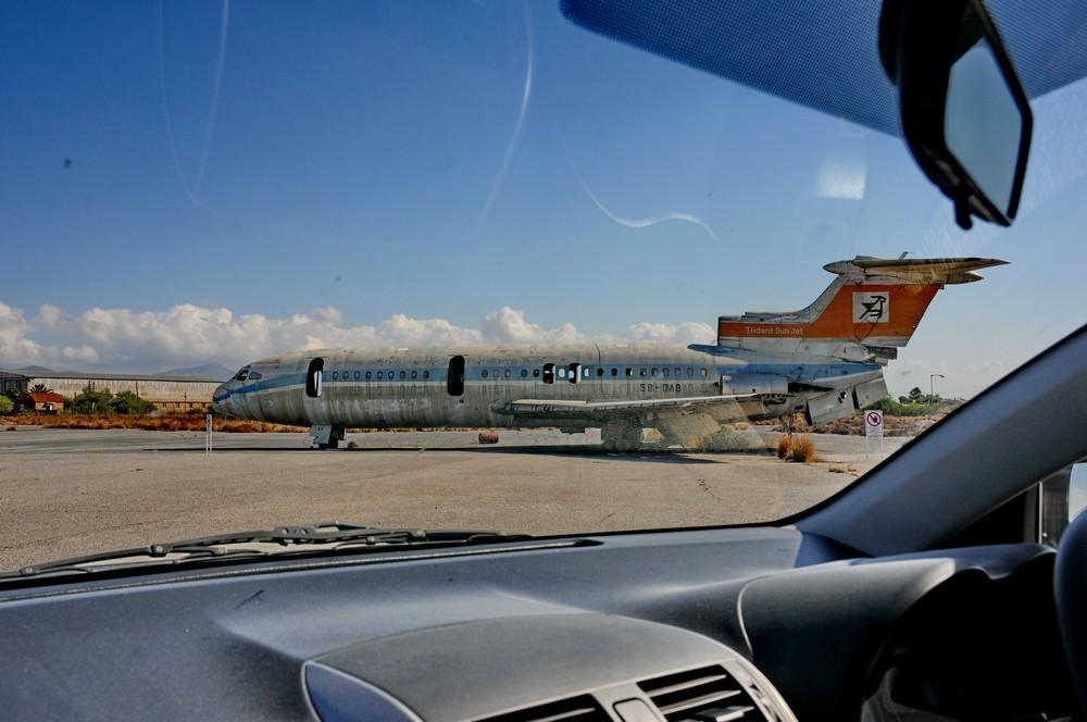 Самолет Trident в аэропорту Никосии