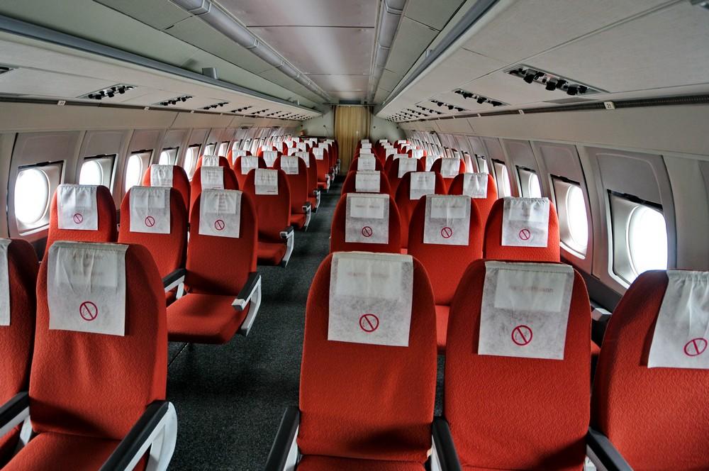 Салон самолета Ил-62 авиакомпании Interflug