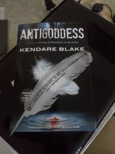 Antigoddess and bookmark