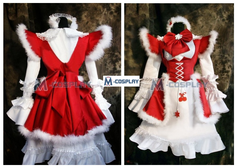 winter maid cosplay costume