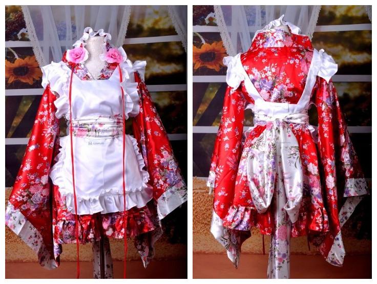 Kinomo maid cosplay dress