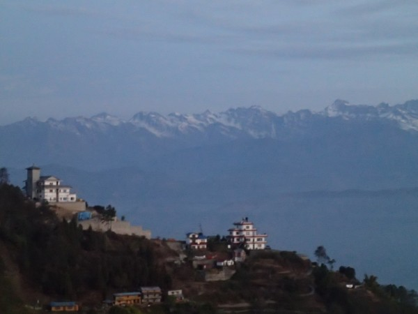 sunrise at the rooftop of nagarkot besso